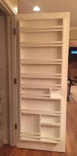 Narrow Pantry Door Rack Behind The Door Storage Racks Diy Sliding