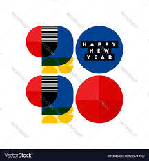 100 Bauhaus Style Style Numbers 2020 Happy New Year