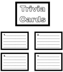 Game Board Book Report Project Templates Worksheets Grading Throughout Trivia Card Template