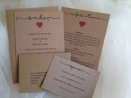 Wedding Invitation Envelope Information Card RSVP