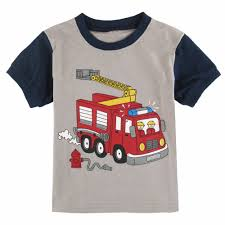 Kids Boys Cartoon Fire Truck Pajamas Children Costume Sleepwear ...