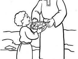 Jesus Feeds 5000 Coloring Pages Bible Fresh