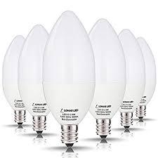 lohas candelabra led bulbs 60 watt equivalent 6w leds daylight