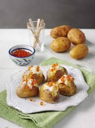 baked canapes mini potato canapes baked on salt recipe all recipes uk