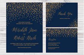 Confetti Wedding Invitation Background Editable