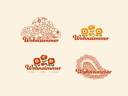 logo wohnzimmer bar cafe by kirsten schroder on dribbble