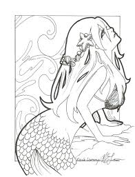 Realistic Mermaid Coloring Pages For Adults Printable Ariel The Little Free Pdf Adult Drawing Barbie Pictures Online