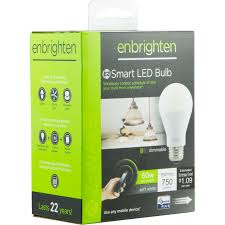 ge 35931 enbrighten dimmable white smart a19 light bulb 60w