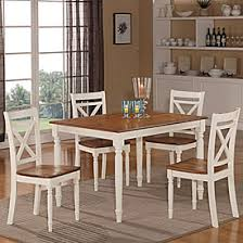 farmhouse 5 piece two tone dining set find the perfect new table