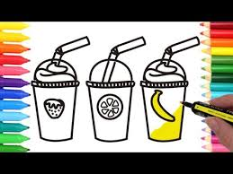How To Draw Colorful Fruit Juice