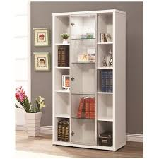 coaster accent cabinets lit display cabinet with glass door front