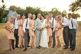 Relaxed Casual Wedding Party Attire