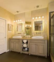 Brushed Nickel Medicine Cabinet With Mirror by Modern Bathroom Lighting Design Ideas Double Handle Fucet On Side