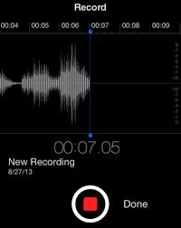 Get to know iOS 7 Voice Memos