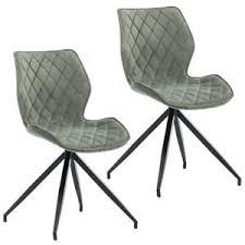 details zu 2er set esszimmerstuhl polsterstuhl stoff samt blassgrün grau grün gesteppt