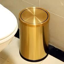 ali edelstahl schütteln haushalts küche badezimmer 9l mülleimer farbe gold