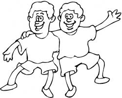 Happy Friendship Day Coloring Pages For Boys