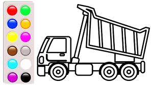 Construction Truck Coloring Pages, Learn Colors With Car And Dump ... Cstruction Trucks Coloring Page Free Download Printable Truck Pages Dump Wonderful Printableor Kids Cool2bkids Fresh Crane Gallery Sheet Mofasselme Learn Color With Vehicles 4 Promising Excavator For Coloring Page For Kids Transportation Elegant Colors With Awesome Of