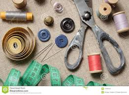 Sewing supplies stock image Image of tape measuring