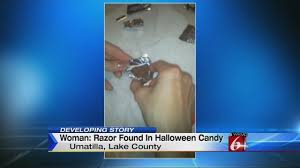 Halloween Candy Tampering by Woman Razor Found In Daughter U0027s Halloween Candy