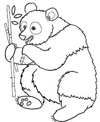 Free Printable Animal Coloring Pages Panda Eating Bamboo