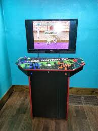 X Arcade Mame Cabinet Plans by 4 Player Pedestal Arcade Cabinet For Mame 32 Steps With Pictures