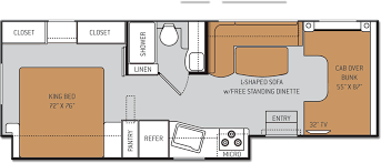 Itasca Class C Rv Floor Plans by Small Class C Rv With Big Spaces 22e Chateau Motorhomes