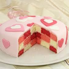 rezept für checkerboard cake für den muttertag oder valentinstag schachbrettkuchen