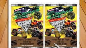 Monster Truck Invitation Birthday Party Printable - Monster Jam ... Free Printable Birthday Cards With Monster Trucks Awesome Blaze And The Machines Invitations Templates List Truck Party 50 Unique Ideas Cookie Free Pvc Invites Vip Invitation Novel Concept Designs Mud Thank You Card Truck Party Printable