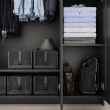 brimnes kleiderschrank 3 türig schwarz 117x190 cm ikea