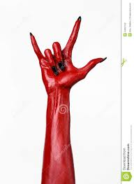 Halloween Is Not A Satanic Holiday by Red Devil U0027s Hands With Black Nails Red Hands Of Satan Halloween