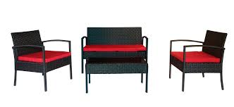 Threshold Patio Furniture Cushions by The Hom 4 Piece Teaset Patio Conversation Set Red