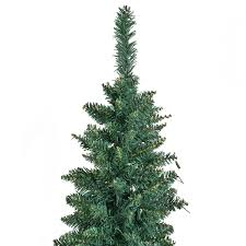 Shop Costway 7Ft PVC Artificial Pencil Christmas Tree Slim W Stand Home Holiday Decor Green