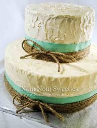 Cakes And Turquoise Textured Cake Teal