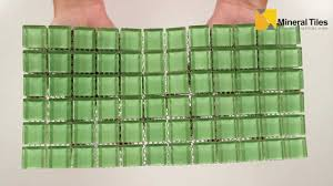 Murano Dune Mosaik Smart Tiles by Glass Mosaic Tile Backsplash Light Green 1x1 101chiglabr124