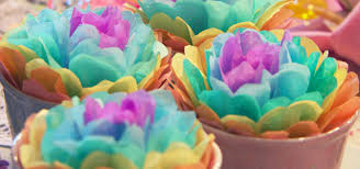 Craft Ideas For Spring Tissue Paper Flowers