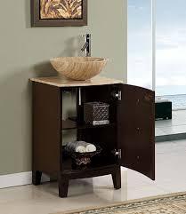 decorative bathroom vanities and sinks at menards using travertine