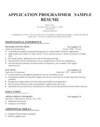 Sample Resume Computer Programmer Template Word Programming Skills