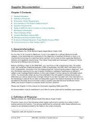 Lift Chairs Medicare Reimbursement by Supplier Manual Chapter 3 Supplier Documentation