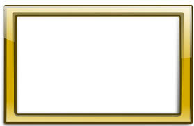 Gold Border Frame PNG Transparent