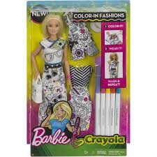 Hedeya Barbie White Background Dress