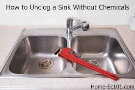 Unclogging Bathroom Sinks Naturally by How To Unclog A Kitchen Sink Naturally Home Ec 101