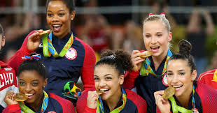 Dominique Moceanu Floor Routine by Unstoppable U S Women U0027s Gymnastics Team Takes Gold In Rio Huffpost
