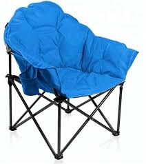 Padded Folding Moon Folding Saucer Steel Club Chair With Carry Bag And Cup  Holder - Buy Folding Saucer Chair,Padded Folding Chair,Club Chair Product  ...