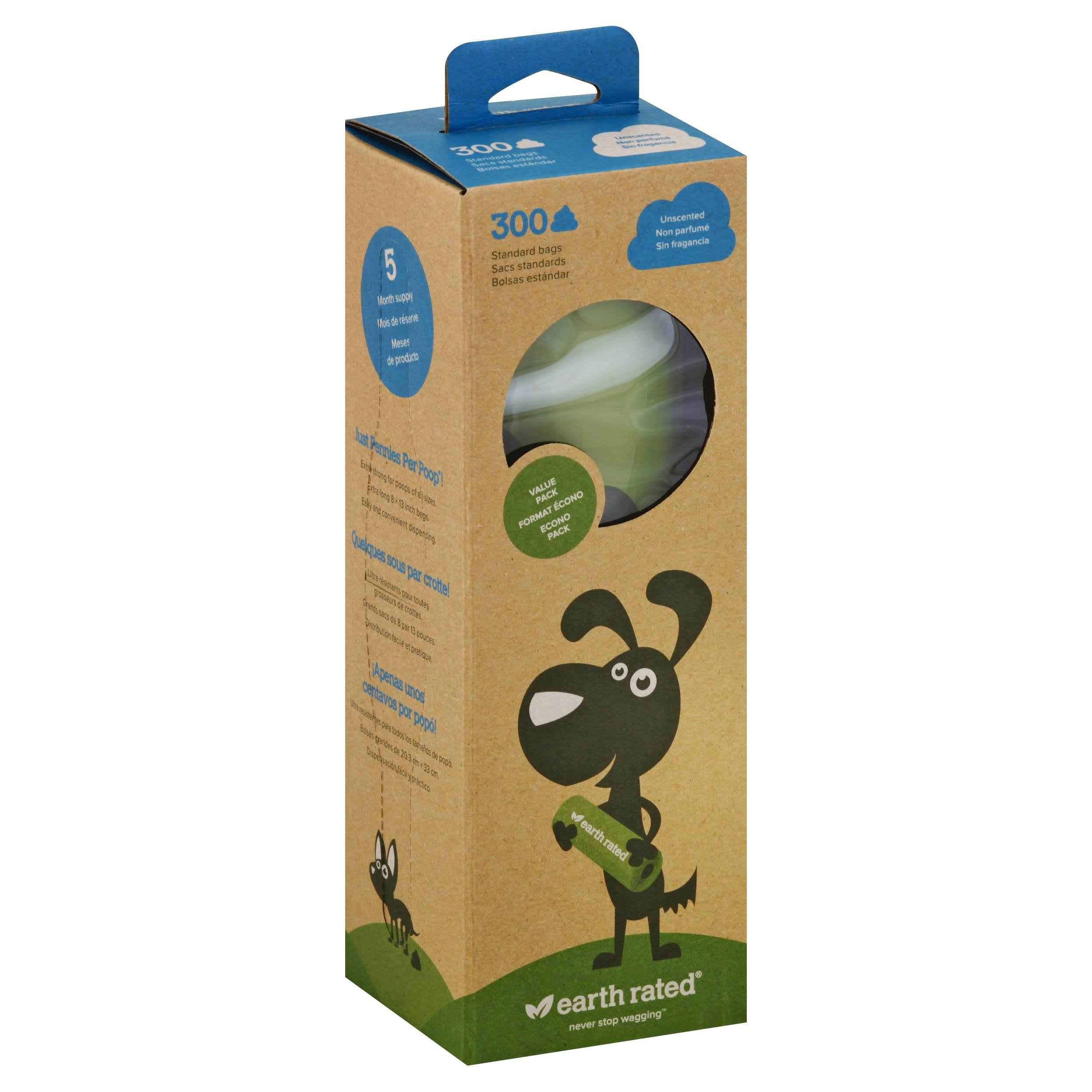 Earth Rated Dog Waste Bag - x300, Unscented