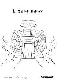 coloriages apprends a dessiner une maison hantée a