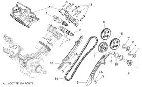 Aprilia Shiver 750 Rear Cylinder Timing System Parts 2007 2008 2009