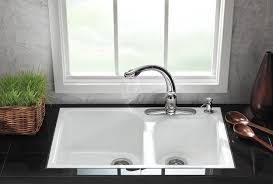 Kohler Executive Chef Sink Stainless Steel by Kohler K 5931 4 0 Executive Chef Tile In Kitchen Sink White