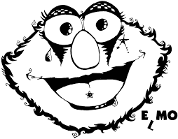 Emo Elmo Colouring Pages Colorine Net 6260 Coloring Home For