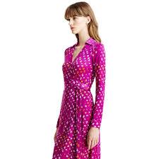 diane von furstenberg new jeanne two silk jersey wrap dress in